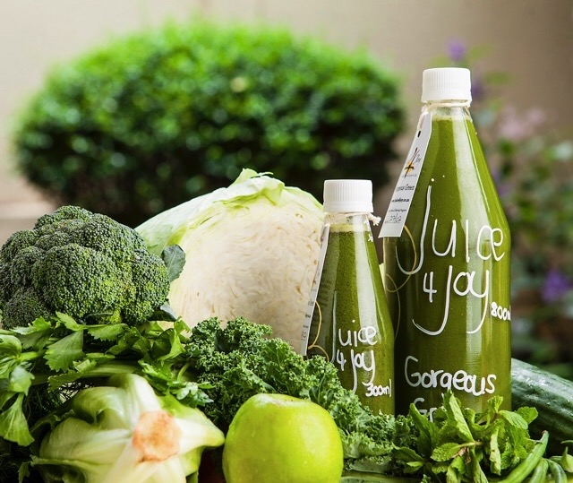 Gorgeous Green Juice 4 Joy cold pressed well-balanced
